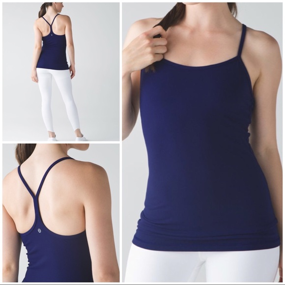 e9f055c5fd450 lululemon athletica Tops - EUC Lululemon Hero Blue Yoga Workout Power Y Tank